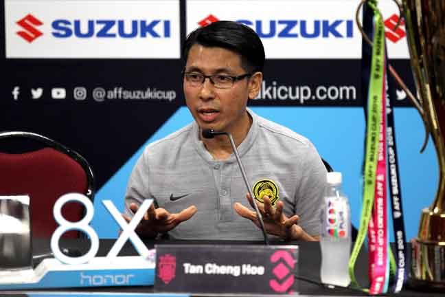 Jurulatih pasukan kebangsaan, Tan Cheng Hoe. — Gambar Bernama