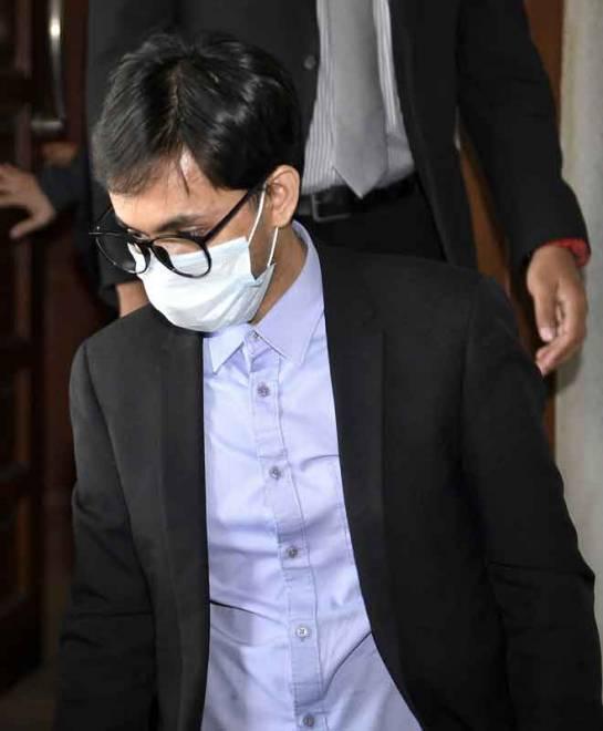 Wafiy dihadapkan di Mahkamah Sesyen atas pertuduhan menyebabkan seorang kakitangan dipecat setelah memberikan maklumat mengenai salah lakunya kepada Suruhanjaya Pencegahan Rasuah Malaysia (SPRM) di Kuala Lumpur, semalam. — Gambar Bernama