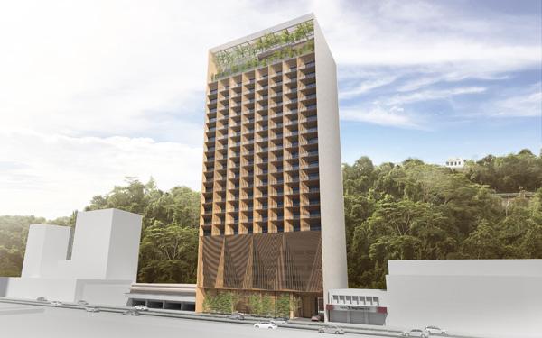 Lakaran grafik projek Hyatt Centric Kota Kinabalu.