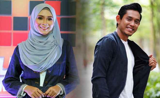 Pemenang penyanyi popular ABPBH32 Siti Nordiana dan Khai Bahar (kanan) antara yang mendahului undian ABPBH33.