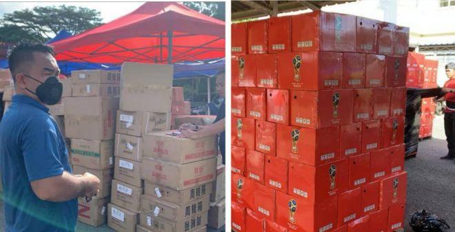Antara barangan yang dirampas oleh pegawai Kastam dalam operasi berkenaan.