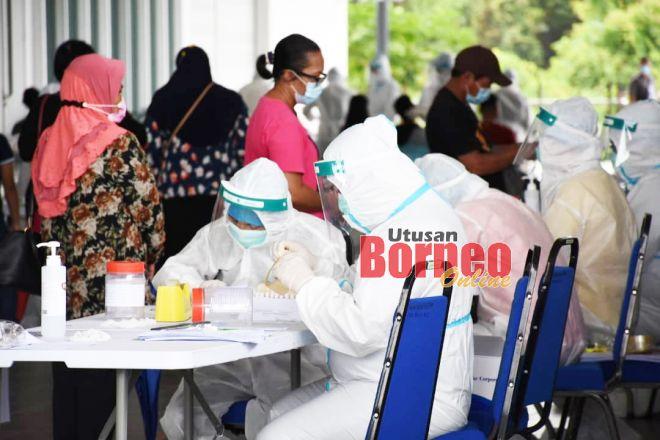 Ujian saringan dijalankan di Sibu