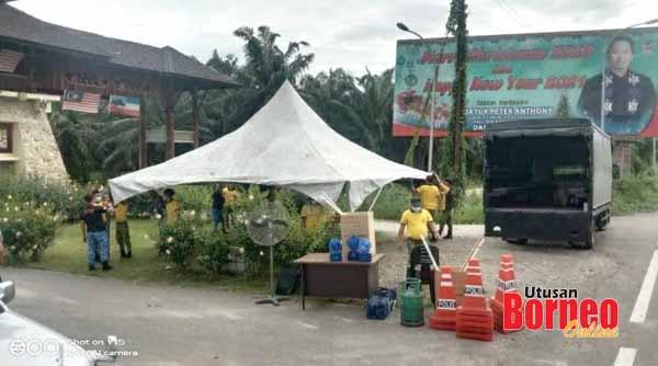Lokasi SJR terletak dekat pintu masuk Pusat Kebudayaan Murut.