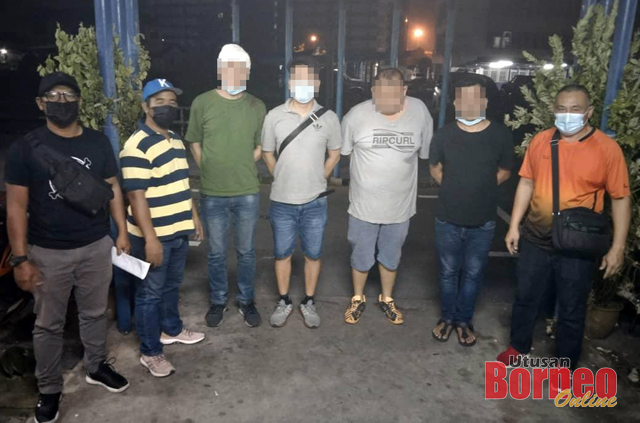 Suspek-suspek yang ditahan sekitar Kuching dan Padawan