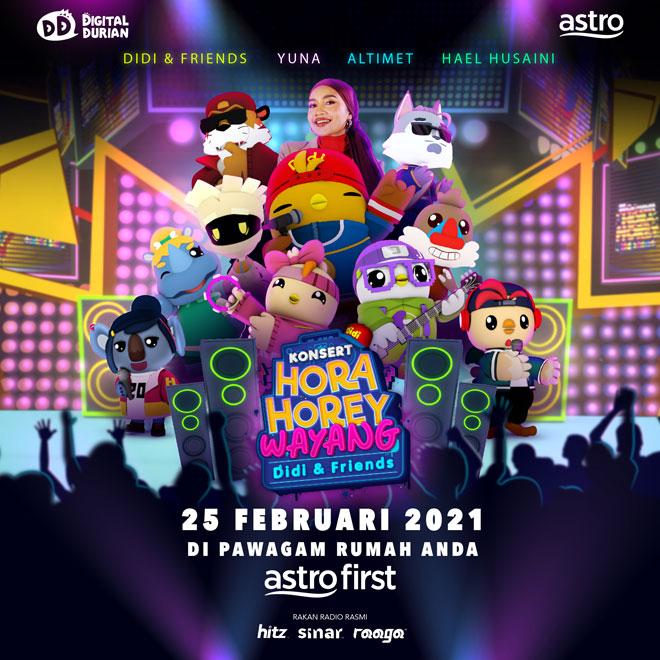 Yuna, Hael & Altimet dalam Konsert Hora Horey Wayang Didi & Friends