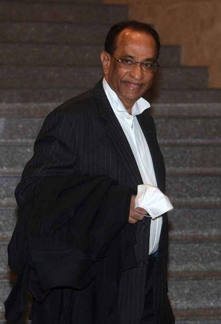 V. Sithambaram hadir di Mahkamah Rayuan, Putrajaya semalam. — Gambar Bernama