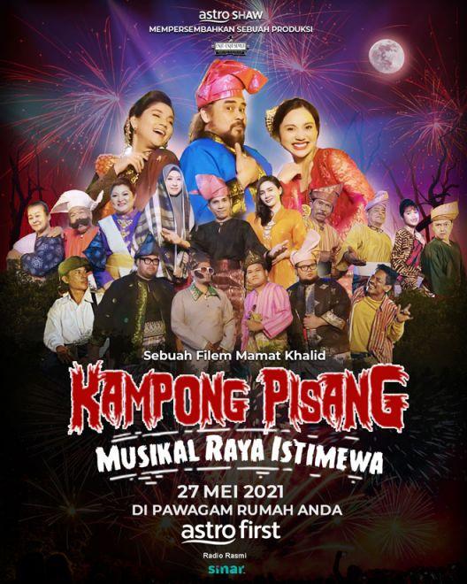 Poster 'Kampong Pisang Musikal Raya Istimewa'.