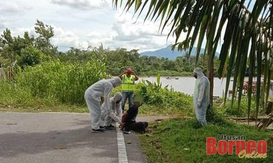 Pesakit positif COVID-19 yang dilaporkan melarikan diri dari wad Hospital Umum Sarawak ditemukan semula di tepi Jalan Patinggi Ali, Satok.