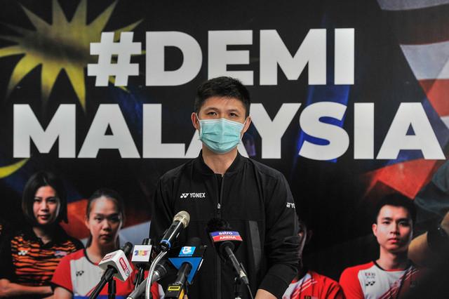 ChoongHannketika sidang media BAM di Akademi Badminton Malaysia, Bukit Kiara semalam. - Gambar Bernama