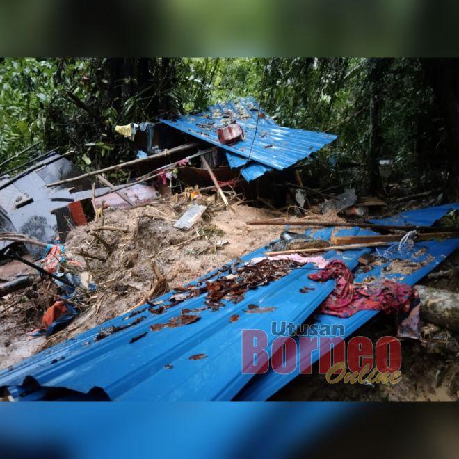 Lokasi tanah runtuh membabitkan dua individu maut.