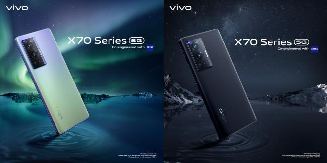 Model X70 Pro dan X70 boleh didapati dalam warna Cosmic Black atau Aurora Dawn.