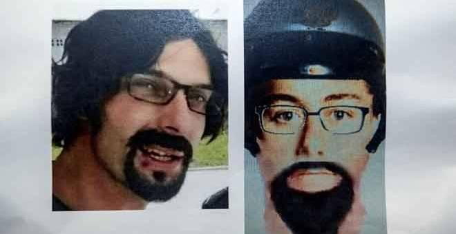 SUSPEK: Gambar wajah sebenar suspek kes tembak warga imam dan pensyarah warga Palestin Dr Fadi Mohammed Al Batsh pada sidang media berkenaan kes tersebut di Ibu Pejabat Polis Bukit Aman dekat Kuala Lumpur, semalam. — Gambar Bernama