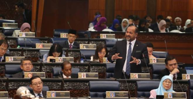 Gobind Singh pada persidangan Dewan Rakyat hari ini. - Sumber foto: Facebook Kementerian Komunikasi dan Multimedia Malaysia.