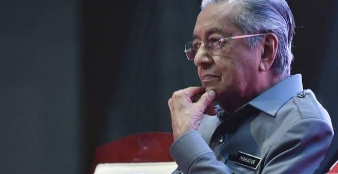 Dr Mahathir meletak jawatan sebagai Perdana Menteri, hari ini. - Gambar fail Bernama