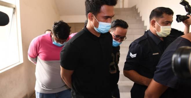 kesemua tertuduh dibebaskan dengan jaminan RM2,500 serta seorang penjamin bagi setiap orang dan menetapkan 13 Julai untuk sebutan semula kes bagi serahan dokumen. - Gambar Bernama