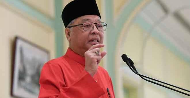 SIDANG MEDIA: Ismail Sabri bercakap pada sidang media harian Perintah Kawalan Pergerakan (PKP) di Perdana Putra, Putrajaya semalam. — Gambar Bernama