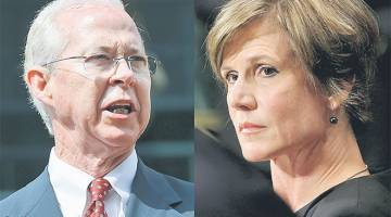 INGKAR: Kombinasi gambar menunjukkan Yates (kanan) di Washington pada 8 Julai, 2015 dan Boente dalam gambar 10 Jun tahun sama di Alexandria, Virginia. — Gambar Reuters/AFP