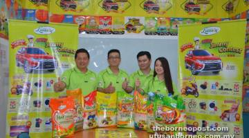 JUMPA ANDA DI SANA: Lim (kiri) bersama Ting (dua kiri), Goh (dua kanan) dan Tan ketika ditemui pemberita untuk peraduan New Jimmy Contest.