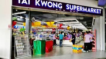 TAWARAN ISTIMEWA: Tai Kwong Supermarket di Times Square Megamall mengadakan tawaran istimewa jualan barangan pengguna dari 21 hingga 24 April ini.