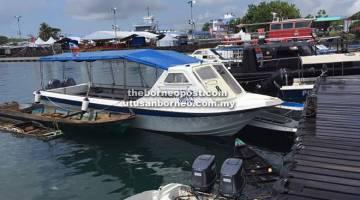 KEMALANGAN: Kedua-dua bot terlibat kini disita untuk siasatan lanjut.