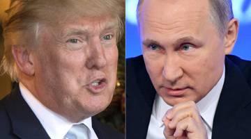 BERPAKAT: Kombinasi gambar fail masing-masing pada 23 dan 28 Disember tahun lepas menunjukkan Putin di Moscow dan Trump di Palm Beach, Florida. — Gambar AFP