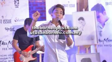 DUET BERSAMA IBU: Fee Haiqal merancang untuk menghasilkan lagu berirama Malaysia Generasi Muda dengan berduet bersama ibunya.