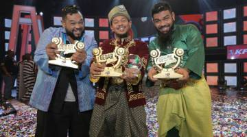 KONSISTEN: Persembahan lawak yang konsisten setiap minggu melayakkan Kiut dinobatkan sebagai juara Gegar Lawak sekaligus membawa pulang wang berjumlah RM50,000.