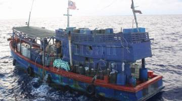 Jumlah tertinggi yang dicatatkan adalah pada tahun lepas, kebanyakannya membabitkan nelayan dari Vietnam- Foto fail