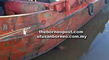 LEMAS: Mayat mangsa ditemui terapung di tepi sebuah kapal berdekatan tempat mangsa dipercayai memancing.