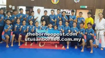 SKUAD karate SKA yang bertanding di Terbuka Thailand.