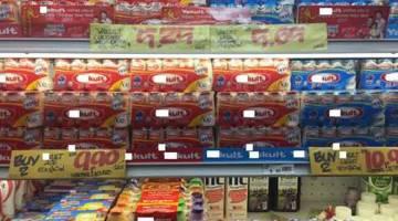 BAKTERIA BAIK: Produk susu kultur (probiotik) yang berada di pasaran Malaysia.