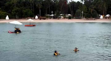 PUSAT PELANCONGAN: Pulau Kepri Coral merupakan pusat pelancongan terbaru di Batam yang masih dalam fasa pembinaan dengan nilai pelaburan awal hampir AS$1.2 juta di Batam. — Gambar Bernama