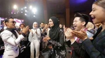 BINTANG PALING POPULAR: Wany Hasrita dinobatkan sebagai  pemenang Anugerah Bintang Paling Popular selepas meraih undian tertinggi menerusi kategori Penyanyi Wanita Popular dengan 2,052,997. — Gambar TV3