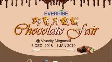 JOM SERTAI KAMI: Everrise Vivacitiy pelawa penyertaan peminat coklat sempena 'Pesta Coklat'.