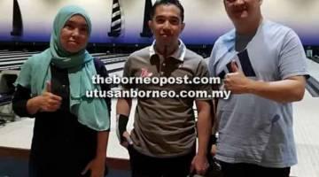 BERSAING: Pemain Evo (dari kiri) Mustahidah Samli, Anuar Hasbi dan Maxwell Chaong.