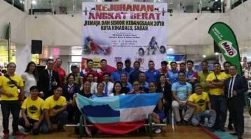 SKUAD angkat berat Sabah yang mengungguli Kejohanan Kebangsaan di Kota Kinabalu.