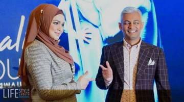 JELAJAH: Datuk Seri Siti Nurhaliza bersama Pengarah Eksekutif Shiraz Projects, Shirazdeen Karim pada sidang media bagi mengumumkan konsert jelalah yang akan diadakan awal tahun depan.