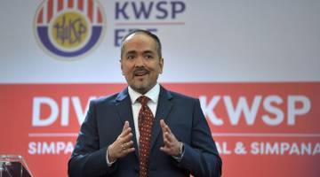 TAKLIMAT: Tunku Alizakri Alias berucap semasa  majlis taklimat prestasi KWSP bagi 2018 di Bangunan KWSP,  Kuala Lumpur semalam. — Gambar Bernama