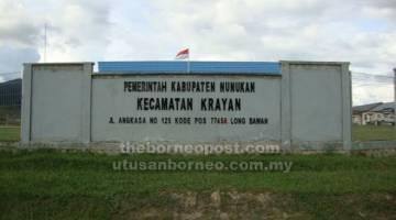 PENTADBIR: Pejabat pentadbiran daerah Nunukan di Long Bawan.