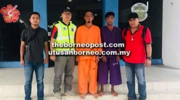 DITANGKAP: Suspek ketiga dan keempat kes bunuh tersebut ditahan untuk membantu siasatan lanjut polis.