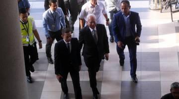 Najib tiba di Mahkamah Tinggi Kuala Lumpur hari ini - Gambar Bernama