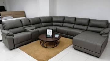 KULIT TULEN: Bahan digunakan untuk membuat sofa terdiri daripada kulit tulen.