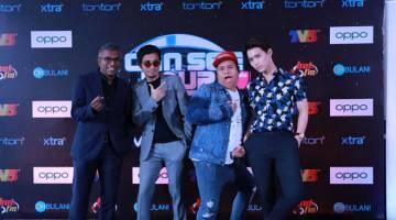 KEMBALI LAGI: Seelan Paul, Mark Adam, Shuk dan Sean LJE semasa sidang media musim kedua ICSYVMY di Kuala Lumpur baru-baru ini. — Gambar ihsan Media Prima