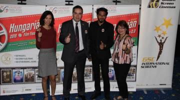 KEMBALI LAGI: (Dari kiri) Naseem Randhawa (Cinema Online, rakan kongsi rasmi Pesta Filem Hungary 2.0), Attila Kali (Duta dari Hungary ke Malaysia), Mugen Rao (tetamu istimewa, Pesta Filem Hungary 2.0), Tan Gaik Lian (Pengurus – Festival Filem, GSC).