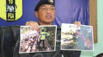 MUJUR: Sanuddin mandangka gambar maya operasyen nya.
