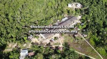 STRATEGIK: Rumah Panjang Sebangkang terletak dalam kawasan hutan lindung serta dikenal pasti untuk Projek IKI bagi menyokong inisiatif HoB.