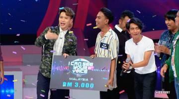 MENANG: Syahrul berjaya membawa pulang wang tunai RM3,000. — Gambar ihsan TV3