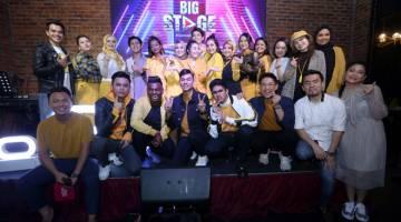 MUSIM KEDUA: Barisan juri, hos dan bintang-bintang yang menjayakan penganjuran musim kedua sewaktu 'Majlis Sidang Media Big Stage 2019' baru-baru ini.
