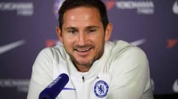 PERLU MENANG: Lampard ketika menghadiri sidang media menjelang perlawanan EPL di antara Chelsea dan Leicester. — Gambar AFP