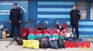 DICEKUP: Sembilan orang ditangkap termasuk juragan yang disyaki mendalangi aktiviti penyeludupan migran dari negara jiran, Filipina untuk masuk ke negara ini.